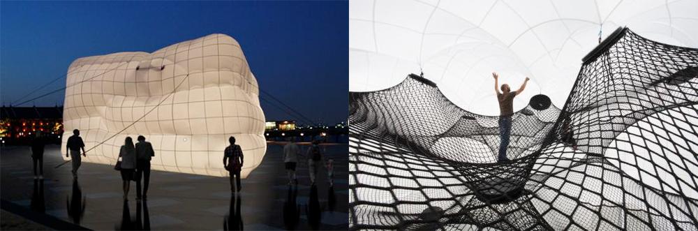 今回の展示作品《Net Blow-up》