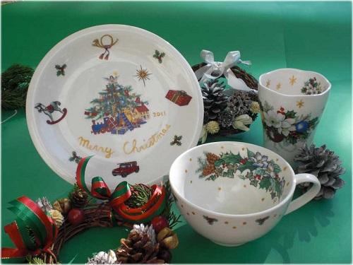 クリスマス限定版 陶器に絵付け体験