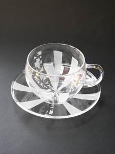 冬の期間限定メニュー ガラス工芸サンドブラスト体験 「耐熱カップ&ソーサー作り」と「アロマキャンドル作り」