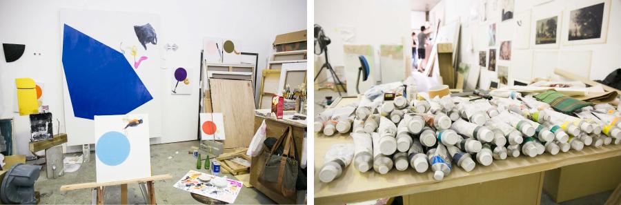 スタジオ内では様々な大作が制作されていました。