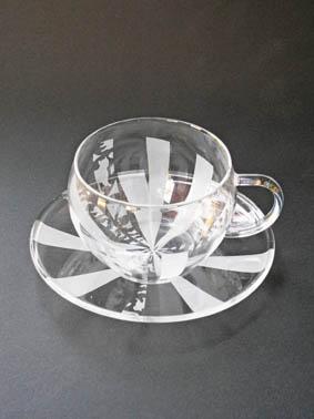 ガラス工芸サンドブラスト 季節のガラスの器作り