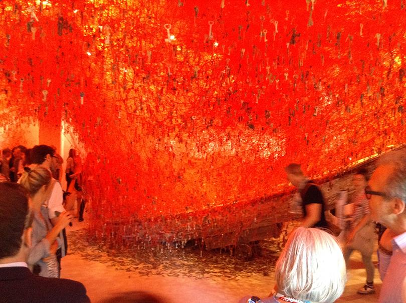 第56回ヴェネチア・ビエンナーレ国際美術展 日本館展示風景(展示室)