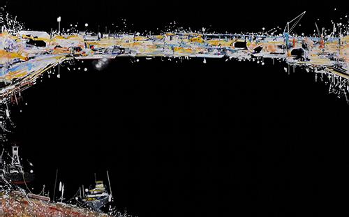 《きょう、世界のどこか》/2011年/油彩、アクリル、キャンバス/227.0×364.0cm