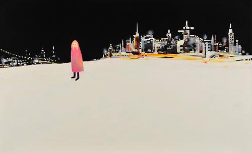 《天使エスメラルダ》/2013年/油彩、アクリル、キャンバス /80.3×130.3cm