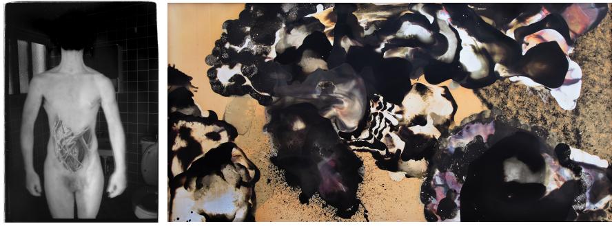 画像左:Ψυχή(animaプシュケー)/2007年/ゼラチンシルバー・プリント、画像右:ryu-graph #0028/2009年/ゼラチンシルバー・プリント