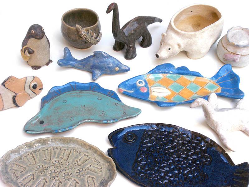 陶芸シーズナルテーマ「陶器で作ろう!海の生き物大集合」