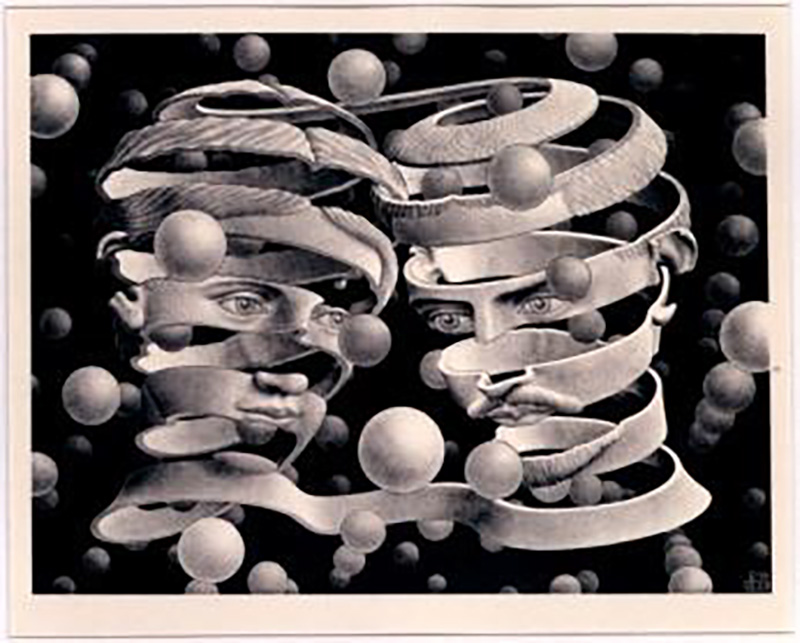 画像:婚姻の絆 All M.C.Escher works©Escher Holding B.V.-Baarn-the Netherlands