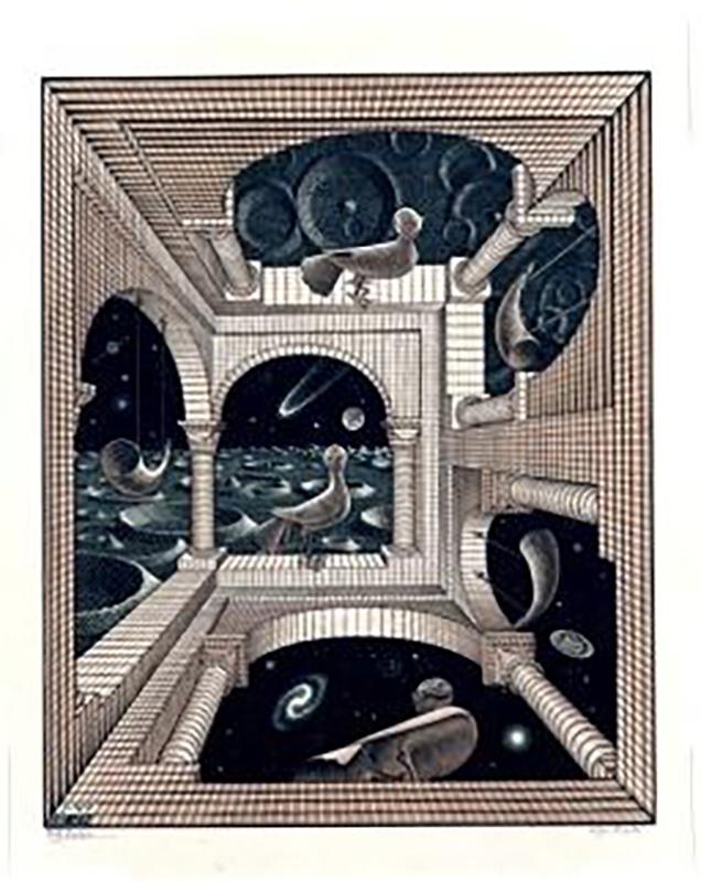 画像:もうひとつの世界 All M.C.Escher works©Escher Holding B.V.-Baarn-the Netherlands