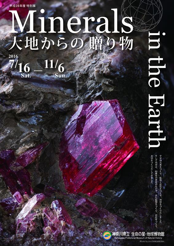 特別展 「Minerals in the Earth -大地からの贈り物-」