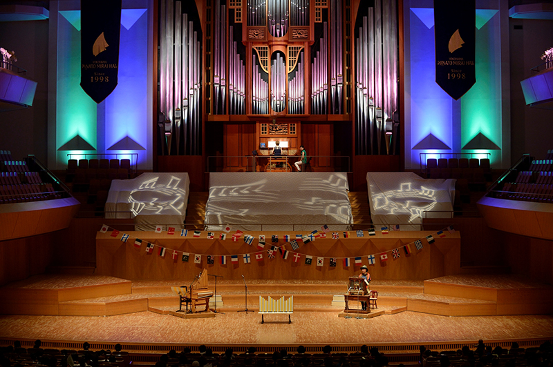 The pipe organ at Yokohama's Minato Mirai Hall is nicknamed Lucy, deriving from the Latin word for light