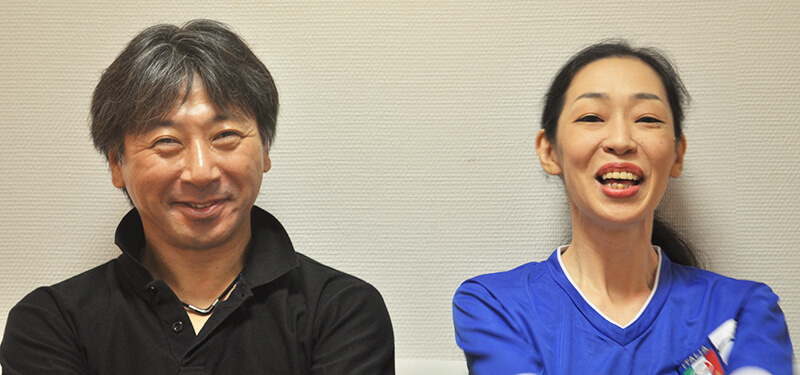 Writer/Producer Ichiro Jun (Left) and Cast Member Hiro Ueda (Right)