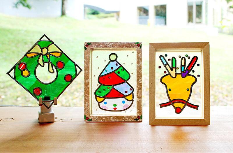 クリスマス限定 かんたんステンドアートで作ろう! クリスマスステンドフレーム&ウォールランプ