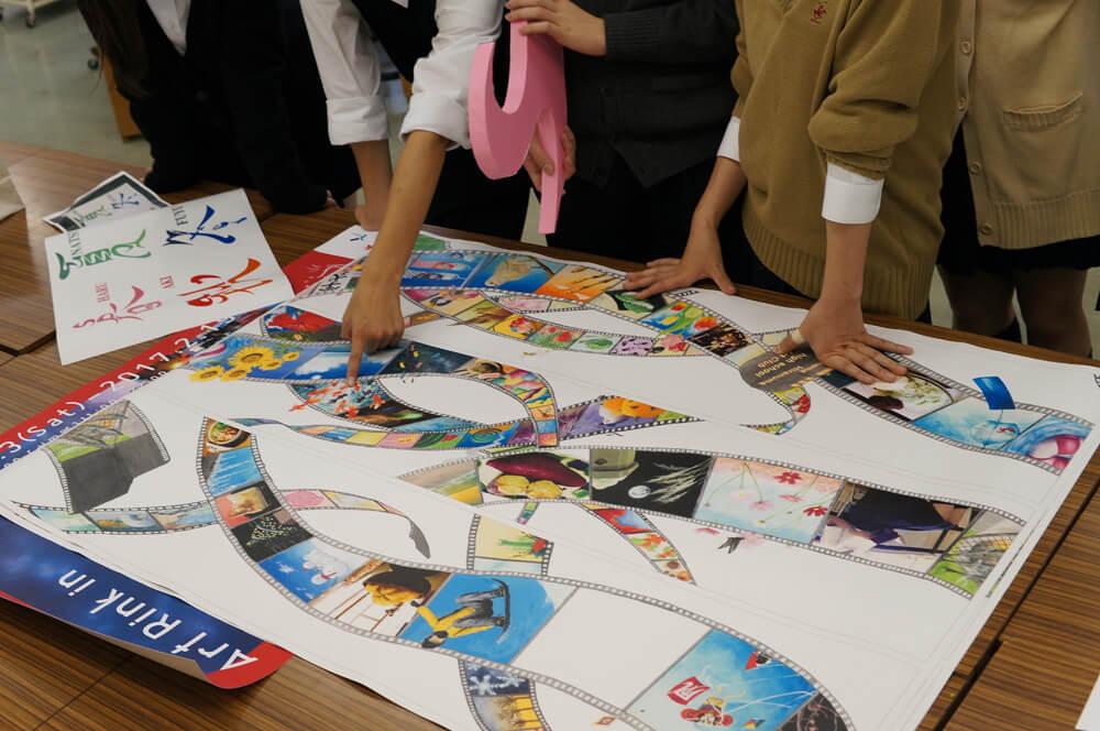 アートのテーマは「日本の四季」。