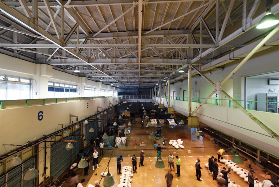 Misaki regional fish market