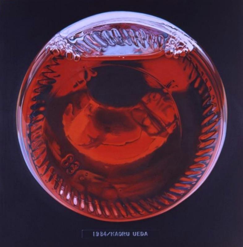 上田薫《 ビンの底 A》1984年  油彩、カンヴァス(綿)