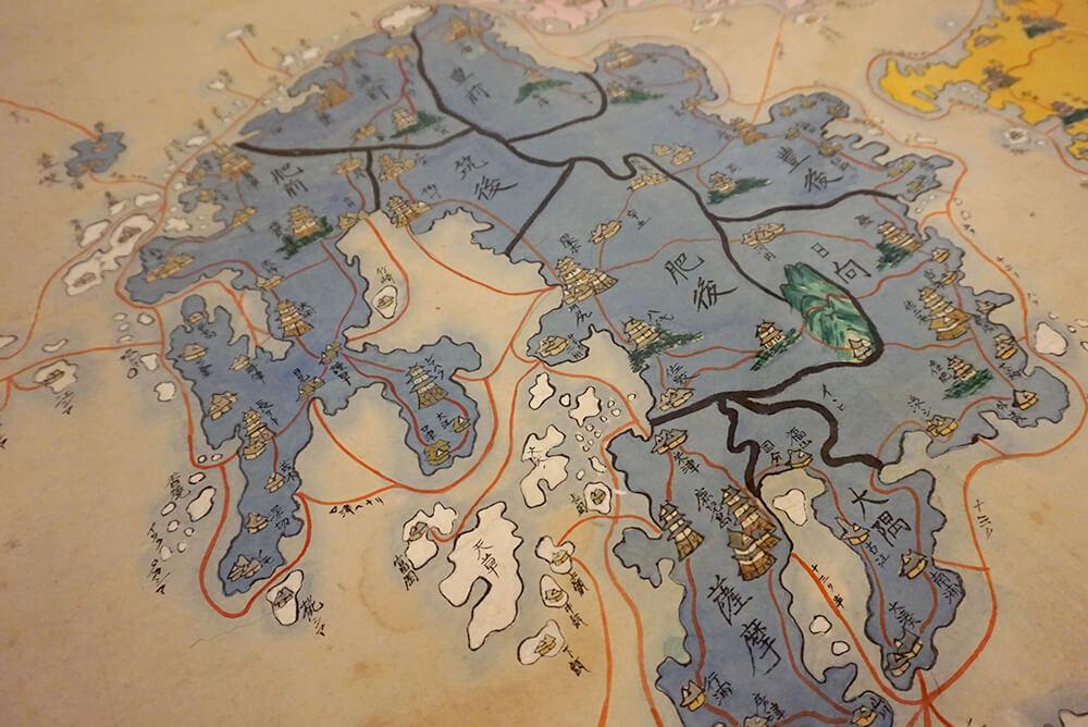 日本の古地図に表されているお城の絵