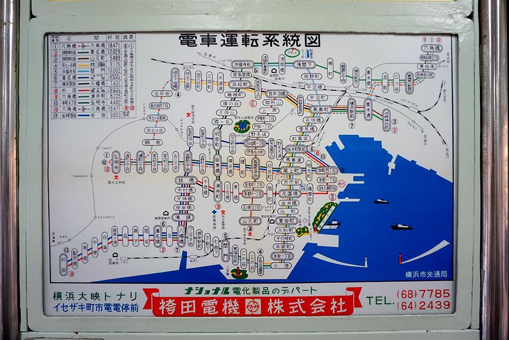 電車運転系統図