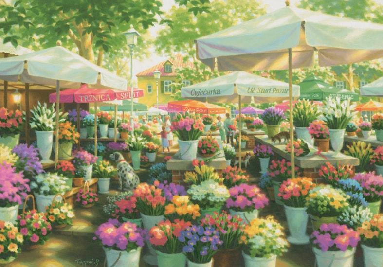 画像:「スプリトの花市」<br>(C)TEPPEI SASAKURA / ART TERRACE