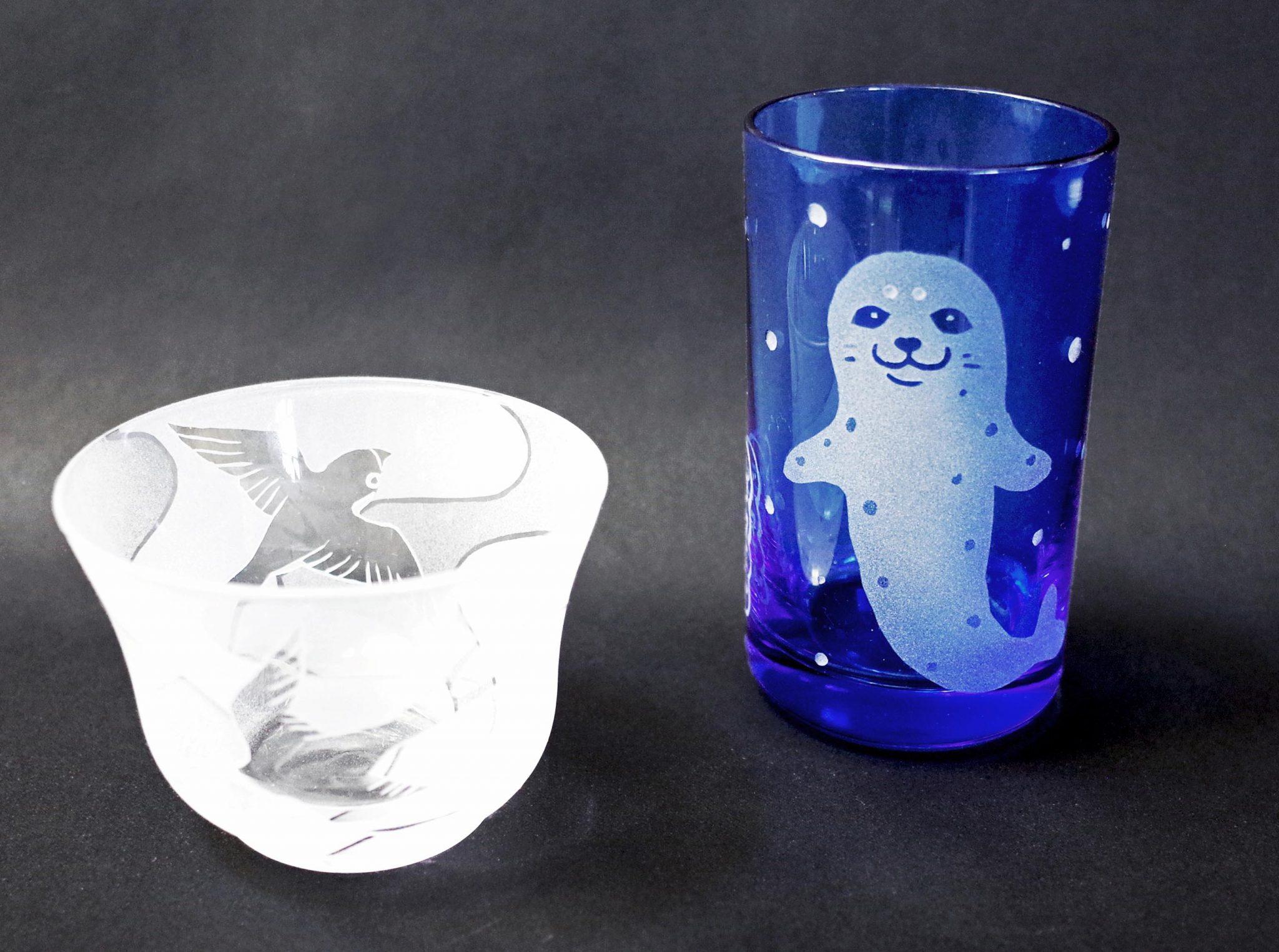 夏の工房期間限定メニュー~水色タンブラー/冷茶グラス/ガラスの風鈴/LEDスタンドライト (相模原市)