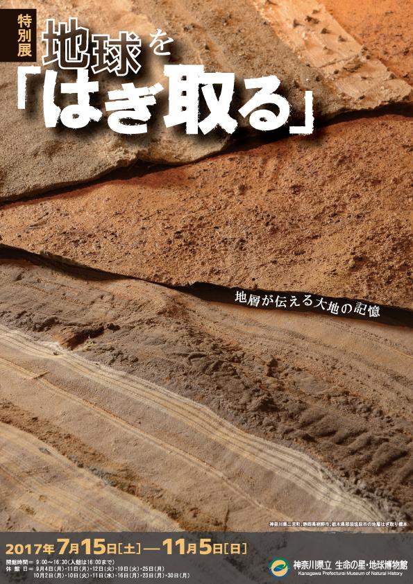 特別展 地球を「はぎ取る」~地層が伝える大地の記憶~