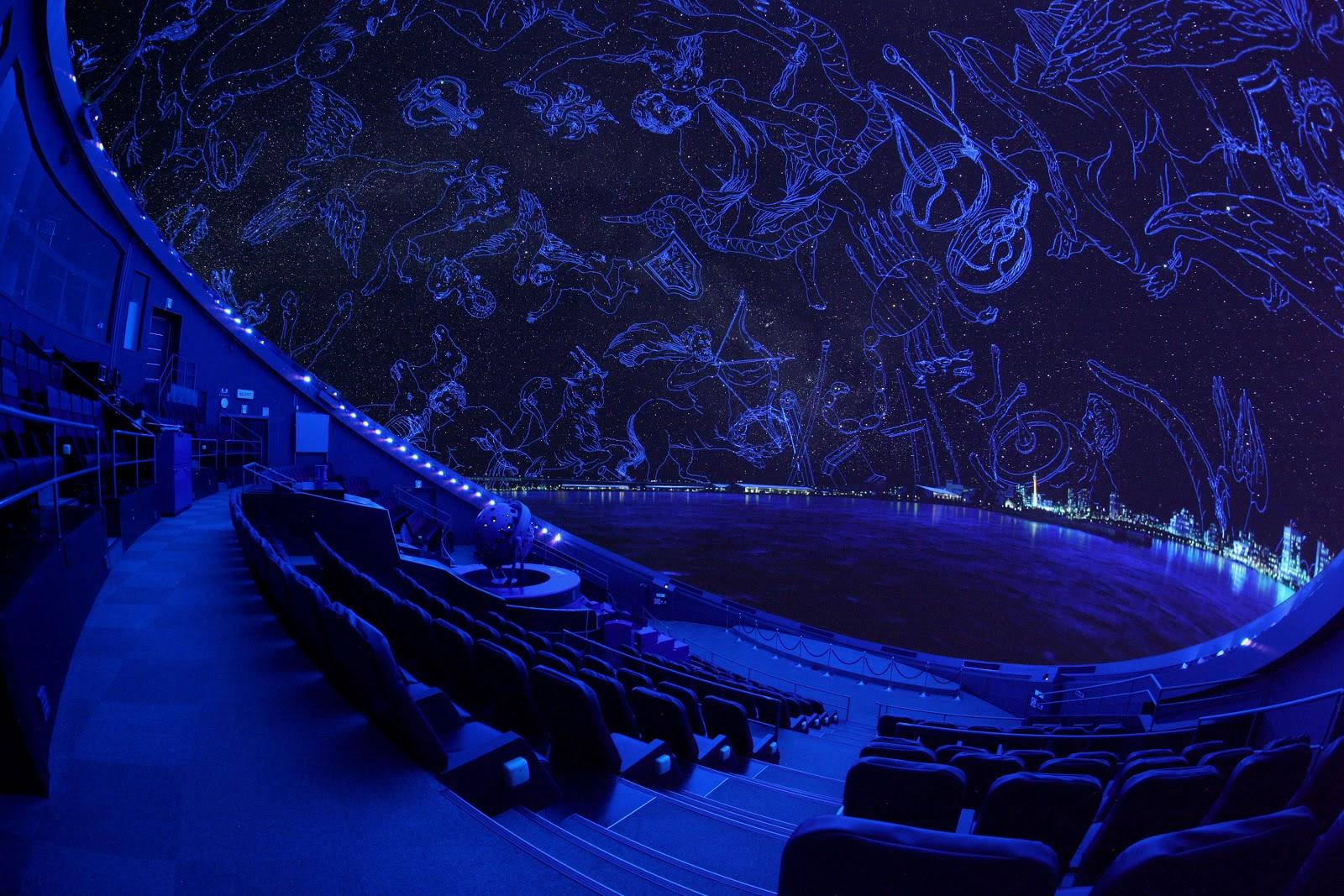 宇宙劇場(プラネタリウム)生解説「夏休みの夜空と七夕の星」
