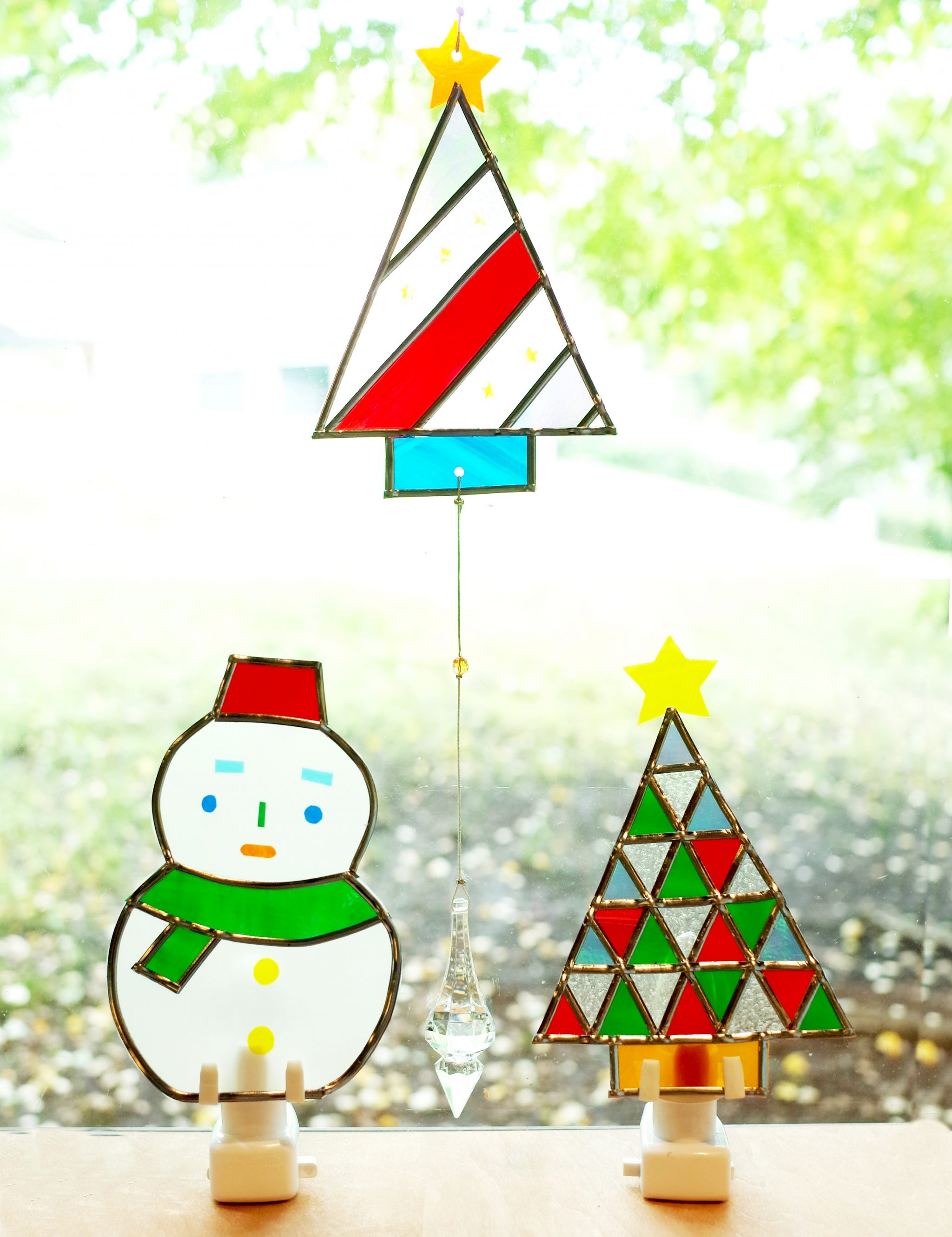 クリスマス限定 「かんたんステンドグラスアートで作ろう!クリスマスウォールランプ&サンキャッチャー」