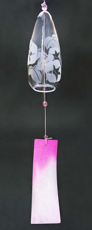 夏の期間限定 ガラス工芸サンドブラスト ガラスの風鈴
