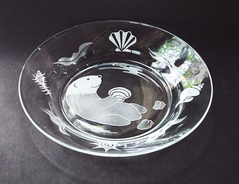 秋の期間限定メニュー サンドブラスト・ガラスのお皿、キューブ型キャンドルホルダー(大・小)