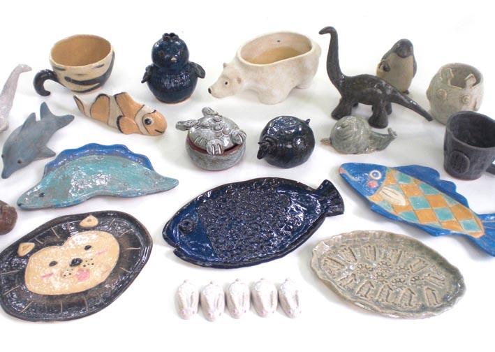 夏休み!工房体験 陶器で夏の動物園