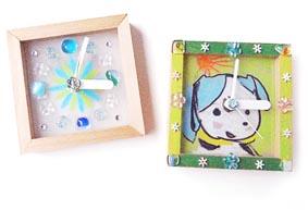 体験工房シルバーウィーク特別メニュー! 貼って作ろう! ポップでアートな小さい時計