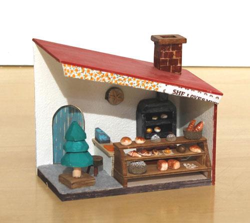 木工 ミニドールハウスとアンティーク風の箱づくり