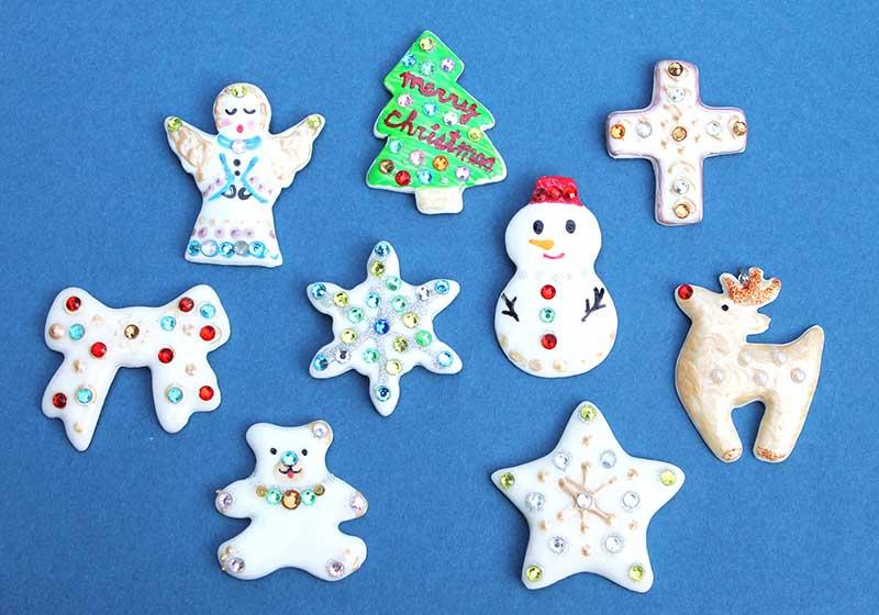 クリスマス期間限定  白磁のクリスマスデコアートアクセサリー作り