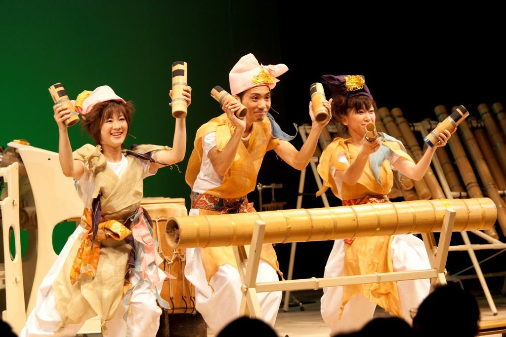 """フェスタ サマーミューザ KAWASAKI 2013 東京楽竹団コンサート~おと・オト・音、み~んな""""竹""""だよ"""