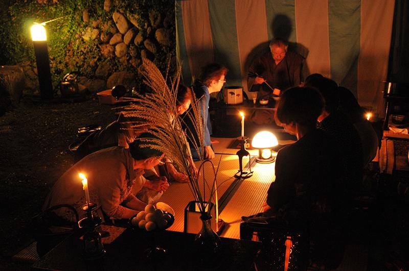 松永記念館観月茶会