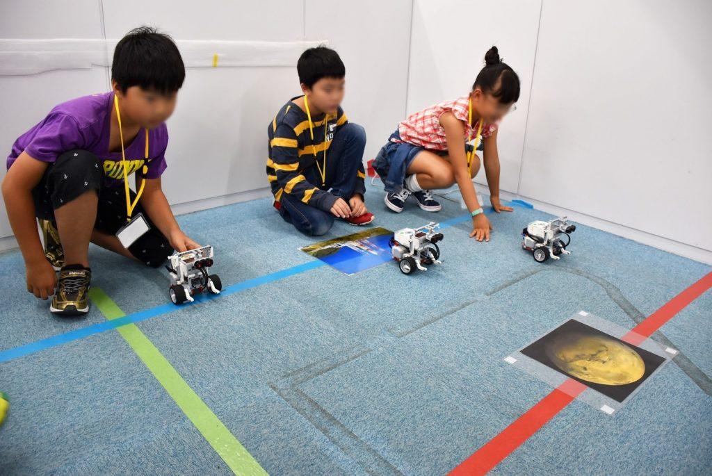 ロボット&プログラミング教室「ブロックロボットでプログラミングに挑戦 EV3 Ⅱ(宇宙探検コース)」
