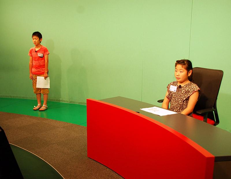 放送ライブラリー 夏休み特別企画2013 アナウンサー体験教室