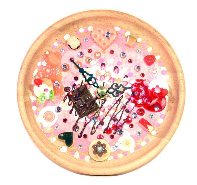 バレンタインデーホワイトデー企画 スイーツ・デコ時計づくり