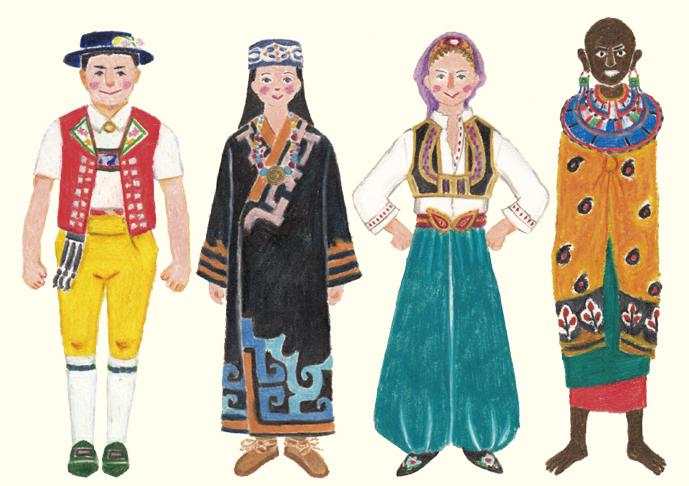 世界の民族衣装を描いてみよう!