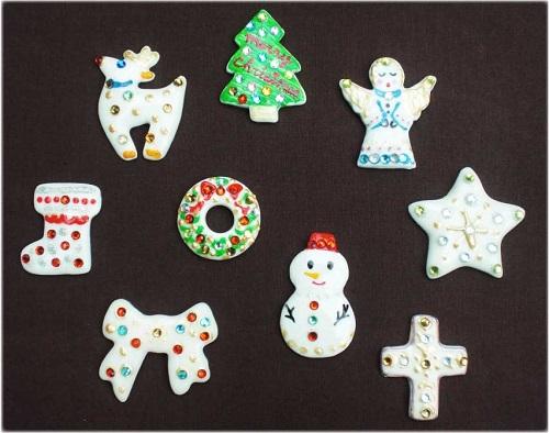 クリスマス限定版 白磁のデコアクセサリー作り
