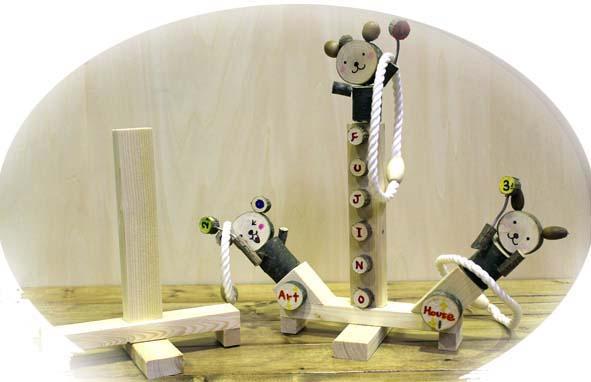 秋の期間限定メニュー 木をくっつけて楽しもう♪ 輪投げ・ロボット・宇宙船作り