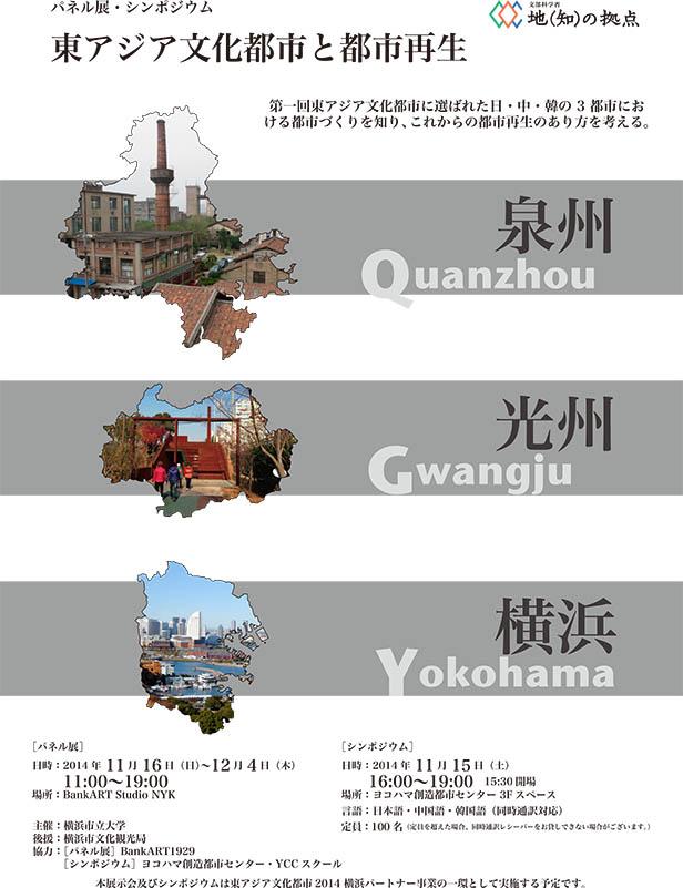 「東アジア文化都市と都市再生」パネル展