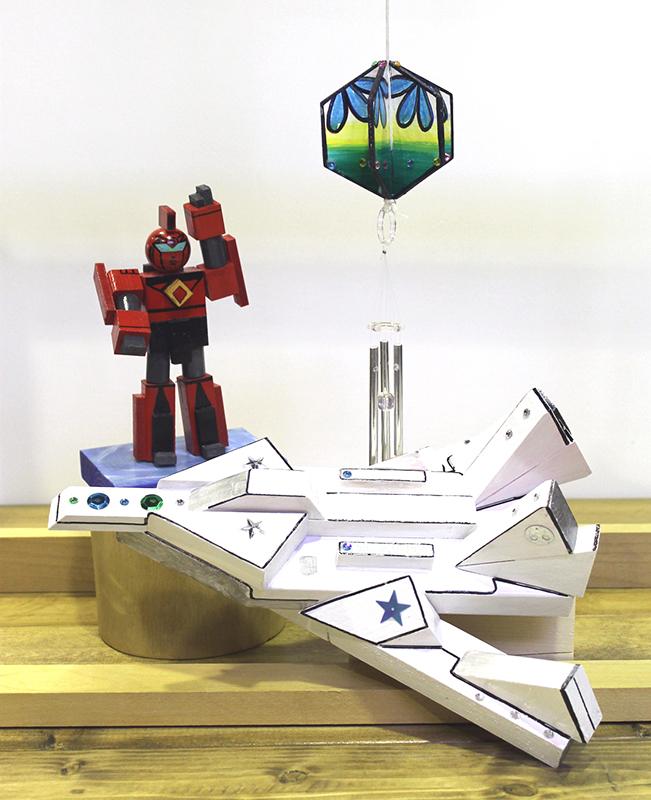 木をくっつけて楽しもう♪ロボット・宇宙船・ウインドチャイムづくり