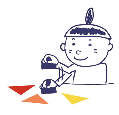 【黄金町芸術学校2015】こどもアートコース『スタンプお絵かき』