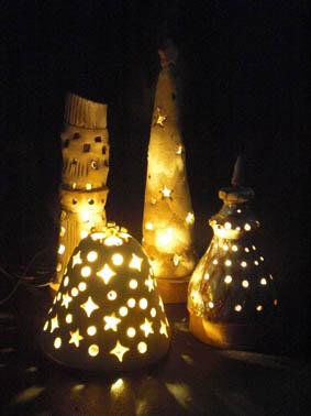 秋の期間限定メニュー  陶器で作るランプシェード 「陶のあかり」(やさしい時間)