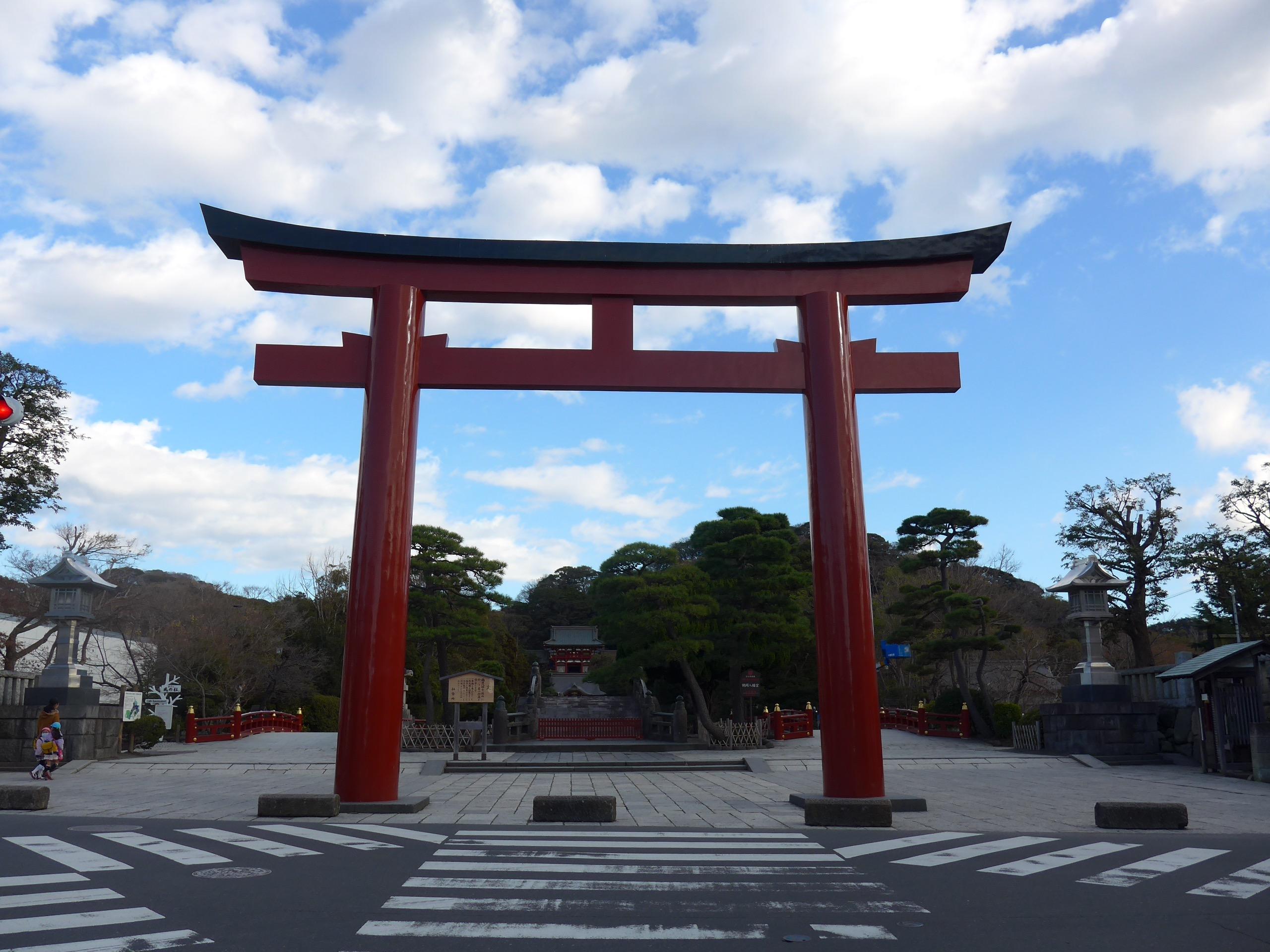 【镰仓】从鹤冈八幡宫本宫,可以看见大海吗?