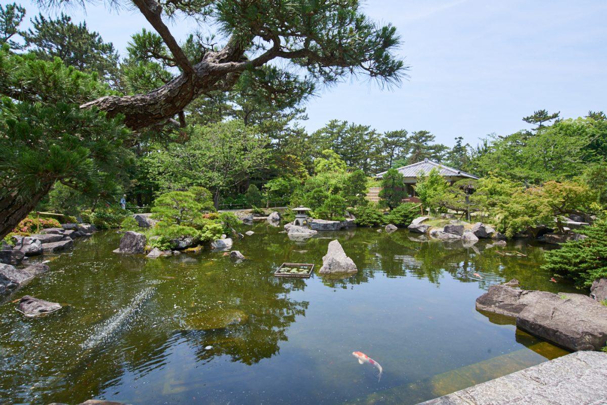 【葉山しおさい公園】御用邸付属邸の跡地に開設された、格調高い公園