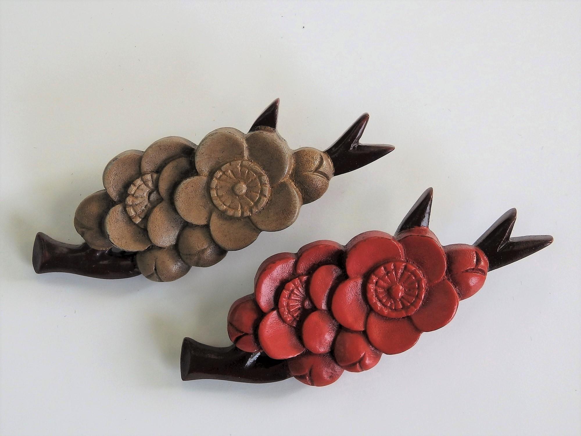 """""""镰仓雕"""" 带有阴影的雕刻效果、深邃、漆色优美的传统工艺品"""