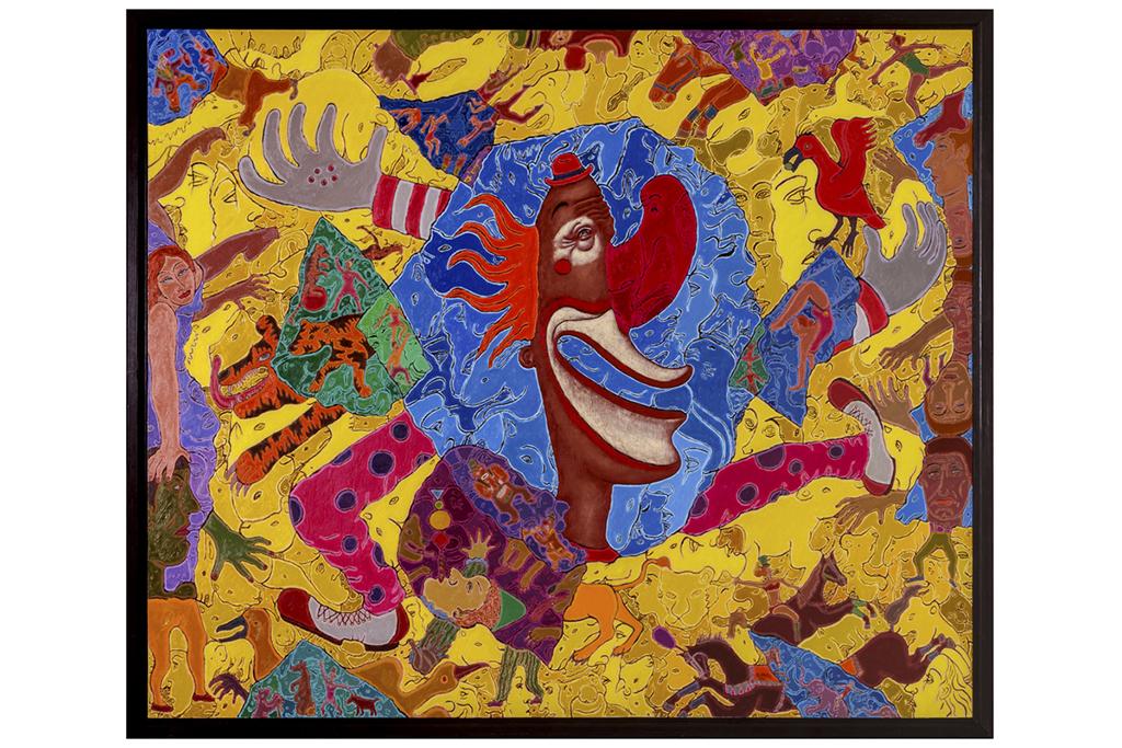ラガーマンから画家へ。岡部文明が描き続ける「ピエロ」に会いにいく