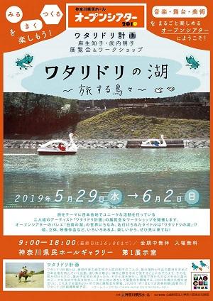 神奈川県民ホールオープンシアター2019 ワタリドリ計画 麻生知子・武内明子 展覧会&ワークショップ ワタリドリの湖~旅する鳥々