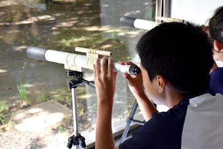 夏休み特別企画「自由研究ラボ~宿題だって楽しみたい!~」チャレンジ教室「天体望遠鏡を作ろう-天体編-」